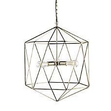 Southern Enterprises Clardonia 3 Light Geometric