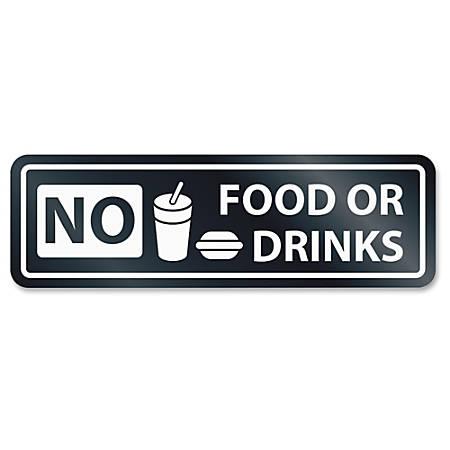 HeadLine No Food Or Drinks Window