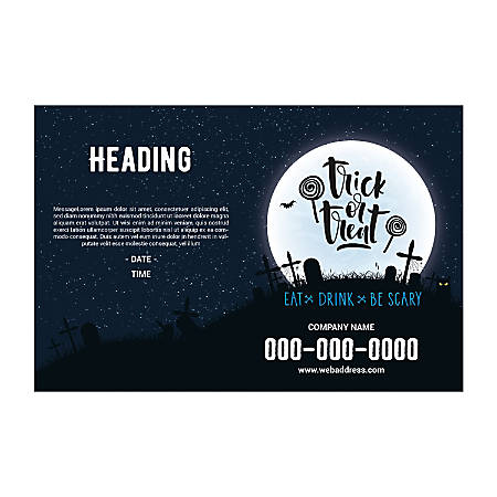Plastic Sign Template, Halloween Moon, Horizontal