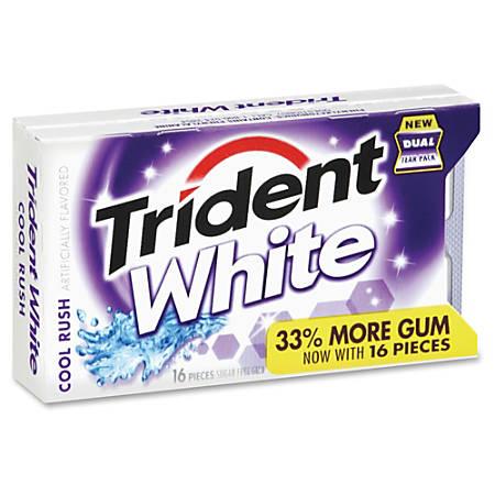Trident Cool Rush White Sugar-free Gum - Cool Rush - Sugar-free - 144 / Box