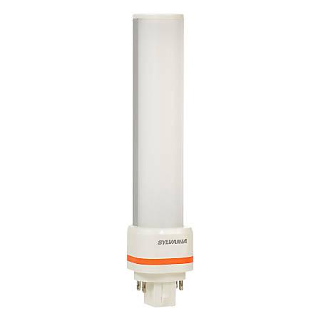 "Sylvania 6.77"" GX24q Horizontal LED Tube Lights, 1000 Lumen, 9 Watt, 4100K/Cool White, Replaces CF26 DD/E Fluorescent Tubes, Case of 24"