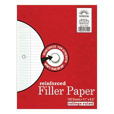 Norcom Reinforced Filler Paper 8 12