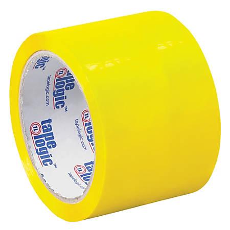 """Tape Logic® Carton-Sealing Tape, 3"""" Core, 3"""" x 55 Yd., Yellow, Pack Of 24"""