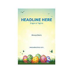 Plastic Sign Vertical Easter Eggs