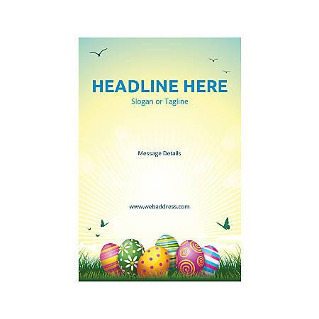 Plastic Sign, Vertical, Easter Eggs