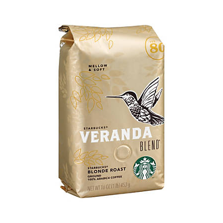 Starbucks Veranda Premium Blonde Ground Roast Coffee, 16-Oz Bag