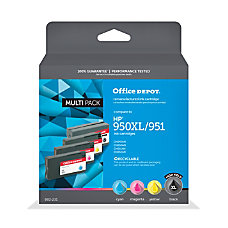 Office Depot Brand ODHP950XLK951CMY Remanufactured Ink