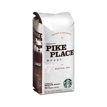 Starbucks Pike Place Ground Coffee, 16-Oz Bag