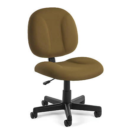 OFM Comfort Series Superchair Fabric Mid-Back Chair, Taupe