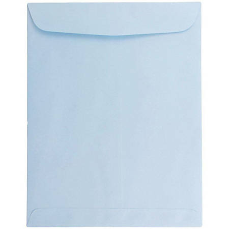 "JAM Paper® Open-End Catalog Envelopes With Gummed Closure, 10"" x 13"", Baby Blue, Pack Of 10"