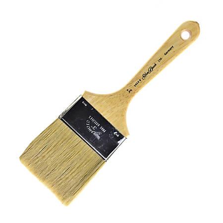 "Silver Brush Series 1414S Paint Brush, 3"", Bulletin Cutter, Natural, Yellow"