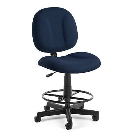 OFM Comfort Series Superchair Task Chair With Drafting Kit, Navy/Black, 105-DK-804