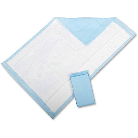 """Protection Plus Disposable Underpads, 23"""" x 36"""", Light Blue, Pack Of 25"""