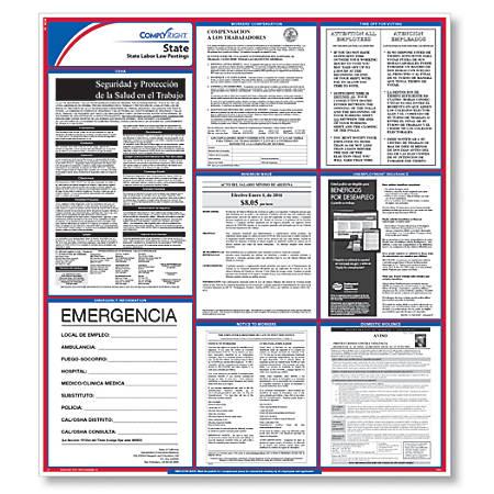 "ComplyRight State Labor Law Poster, North Carolina, Spanish, 24"" x 34"""