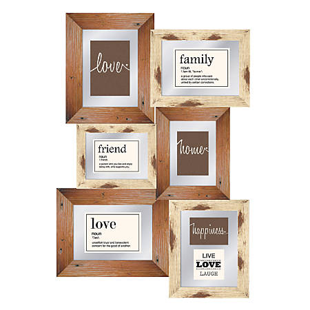"""PTM Images Photo Frame, Love Happiness Home, 19 3/4""""H x 1 1/4""""W x 28""""D, Multicolor"""