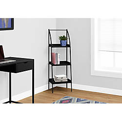 Monarch Specialties 3 Shelf Backless Metal