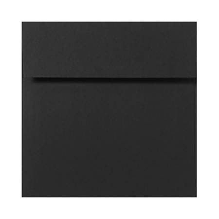 "LUX Square Envelopes With Peel & Press Closure, 6"" x 6"", Midnight Black, Pack Of 1,000"