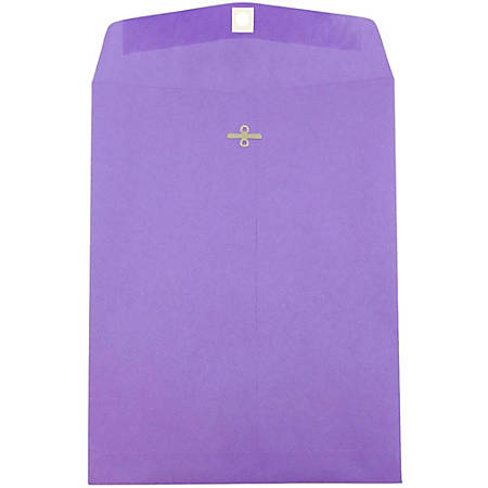 """JAM Paper® Open-End Catalog Envelopes With Clasp Closure, 10"""" x 13"""", 30% Recycled, Violet, Pack Of 10"""