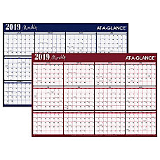 AT A GLANCE Horizontal Erasable Yearly