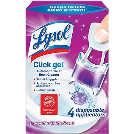 Lysol Click Lavender Toilet Cleaner - Gel - Lavender Scent - 20 / Carton - Lavender