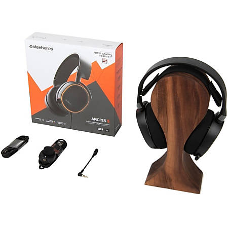 SteelSeries Arctis 5 2019 Edition - Stereo - Mini-phone, USB - Wired - 32 Ohm - 20 Hz - 22 kHz - Over-the-head - Binaural - Circumaural - 9.84 ft Cable - Bi-directional, Noise Cancelling Microphone - Black