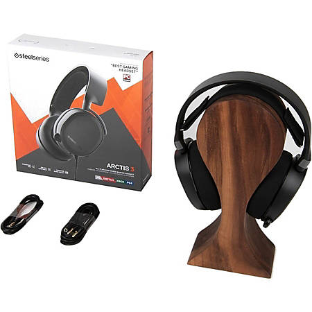 SteelSeries Arctis 3 2019 Edition - Stereo - Mini-phone - Wired - 32 Ohm - 20 Hz - 22 kHz - Over-the-head - Binaural - Circumaural - 9.84 ft Cable - Bi-directional, Noise Cancelling Microphone - White