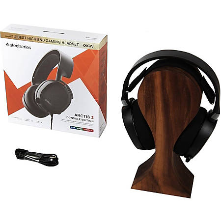 SteelSeries Arctis 3 Console Edition 2019 Edition - Stereo - Mini-phone - Wired - 32 Ohm - 20 Hz - 22 kHz - Over-the-head - Binaural - Circumaural - 9.84 ft Cable - Bi-directional, Noise Cancelling Microphone - Black