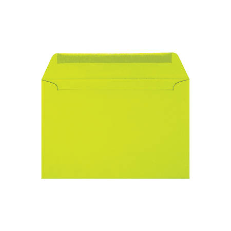 """LUX Booklet Envelopes With Peel & Press Closure, #6 1/2, 6"""" x 9"""", Wasabi, Pack Of 250"""