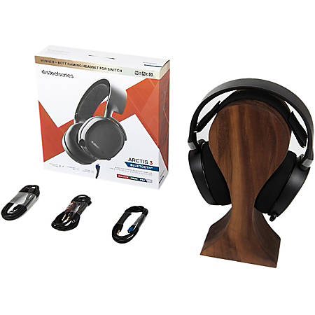 SteelSeries Arctis 3 Bluetooth Headset - Stereo - Mini-phone - Wired/Wireless - Bluetooth - 32.8 ft - 32 Ohm - 20 Hz - 22 kHz - Over-the-head - Binaural - Circumaural - Bi-directional, Noise Cancelling Microphone - Black