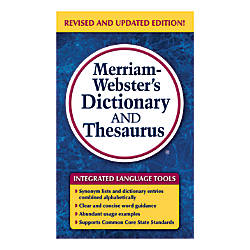 Merriam Websters Dictionary And Thesaurus Mass