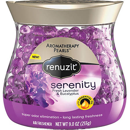 Renuzit Aromathpy. Pearls Air Freshener - Beads - 9 fl oz (0.3 quart) - Fresh Lavender - 30 Day - 1 Each