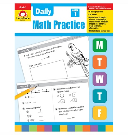 Evan-Moor® Daily Math Practice, Grade 1 Item # 902893