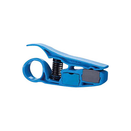 IDEAL PrepPRO Coax/UTP Cable Stripper - Adjustable Blade, Spring Loaded, Built-in Blade Storage - 1 Each