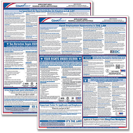 """ComplyRight Federal Applicant Area Poster, Bilingual, 16"""" x 20"""""""