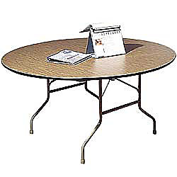 Office Depot Brand Premier Round Folding Table 60 Diameter Walnut Beige