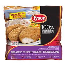 Tyson Uncooked Breaded Chicken Breast Tenderloins