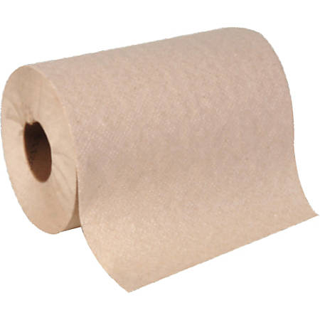 """Georgia-Pacific Envision 1-Ply Hardwound Paper Towels, 2"""" Core, 7 15/16"""" x 350', Brown, Pack Of 12 Rolls"""