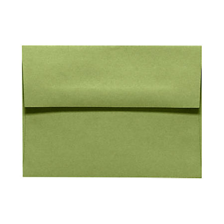 "LUX Invitation Envelopes With Peel & Press Closure, A7, 5 1/4"" x 7 1/4"", Avocado Green, Pack Of 1,000"