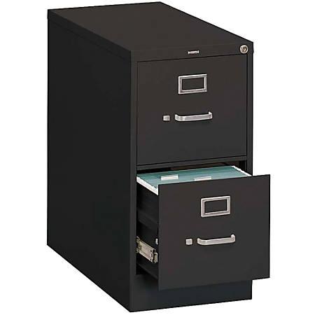 HON® 310-Series 2-Drawer Legal File, Black