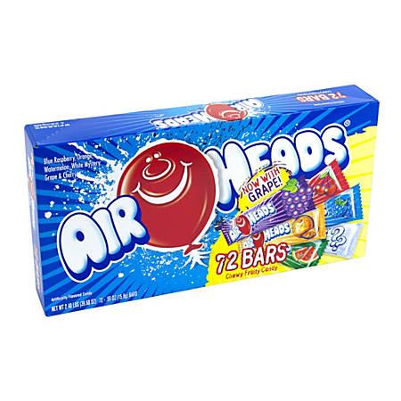 Airheads Single Taffy Bars, 0.55 Oz, Assorted Flavors, Box Of 72