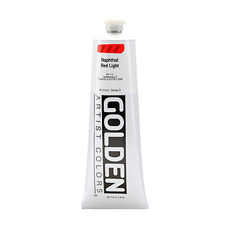 Golden Heavy Body Acrylic Paint, 5 Oz, Naphthol Red Light
