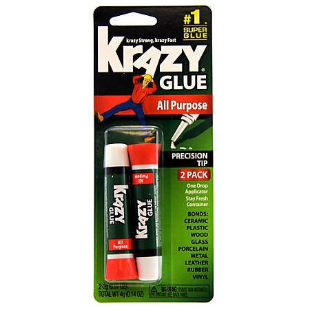 Krazy® Glue Clear Original, .07 Oz Tubes, Pack Of 2