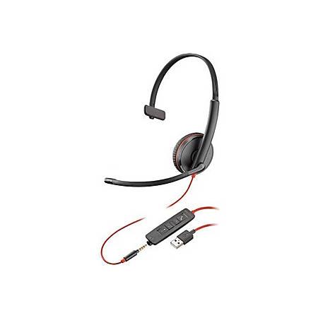 Plantronics® Blackwire C3210 Headset, Black/Red