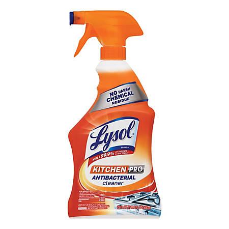 Lysol® Kitchen Pro Antibacterial Cleaner, Citrus Scent, 22 Oz