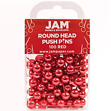 JAM Paper Colorful Push Pins 12
