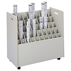 Safco Mobile Roll File 50 Compartments