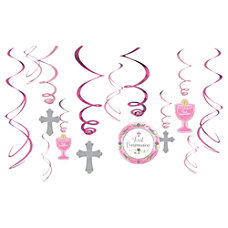 Amscan Religious Communion Day Foil Swirl