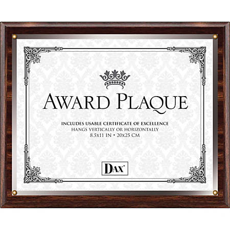 "DAX Wooden Insert Plaques, 8.50"" x 11"", Brown"
