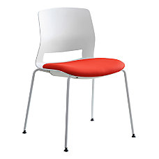 Lorell Arctic Series Stacking Chairs WhiteRed