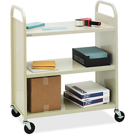 "Bretford Basics Flat Shelf Mobile Utility Book Truck - Steel - x 37"" Width x 18"" Depth x 42"" Height - 1 Each"